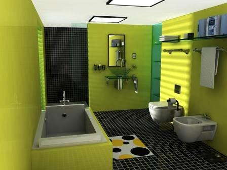 Green-stylish-luxurious-bathroom