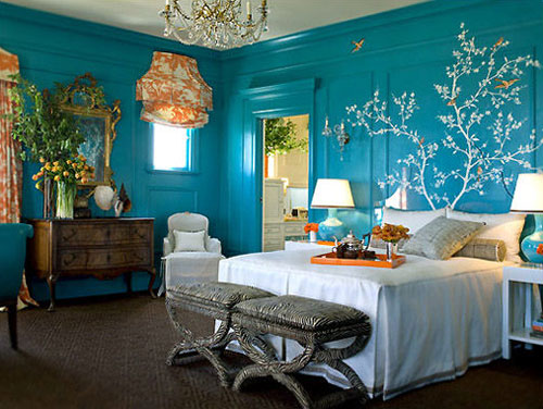 sexy bedroom design blue