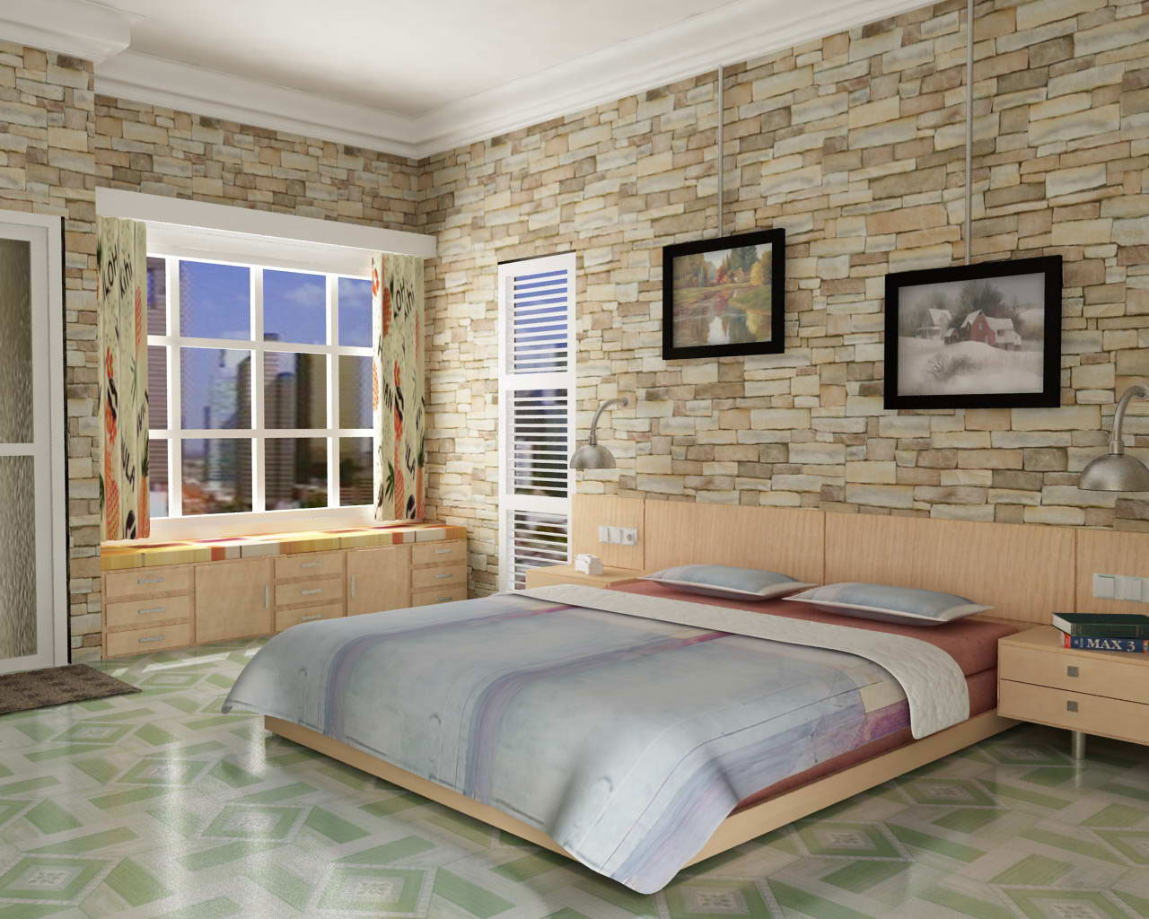 tips for interior bedroom design brick