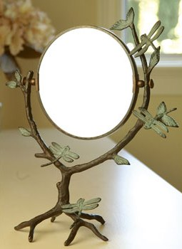 Branches & Dragonflies Table Mirror