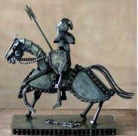 Auto Parts Sculpture, 'Gallant Knight'