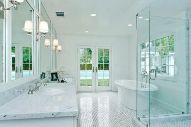 ... Elegant Look To The Bathroom With Different Bathroom Coloring Schemes