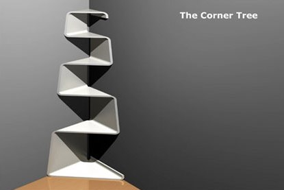 amazing corner zig-zag shelf
