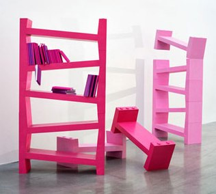 skew bookcase