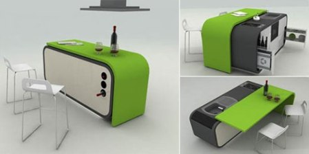 Furniture designs to make the most out of tiny apartment for Smart kitchen design small space
