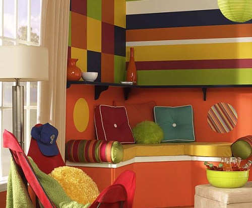 Wonderful Blue Yellow-Orange Red-Orange Room 500 x 413 · 48 kB · jpeg