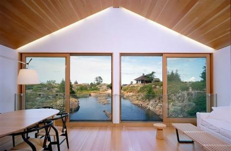 floating house interior