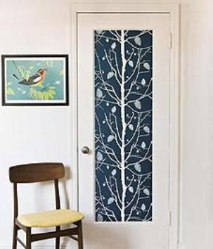 Decorate Your Door Panel Using Stylish Patterns Home