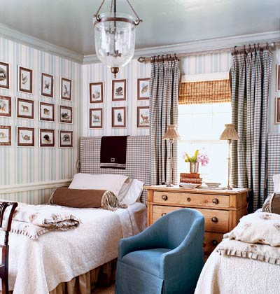 striped bedroom