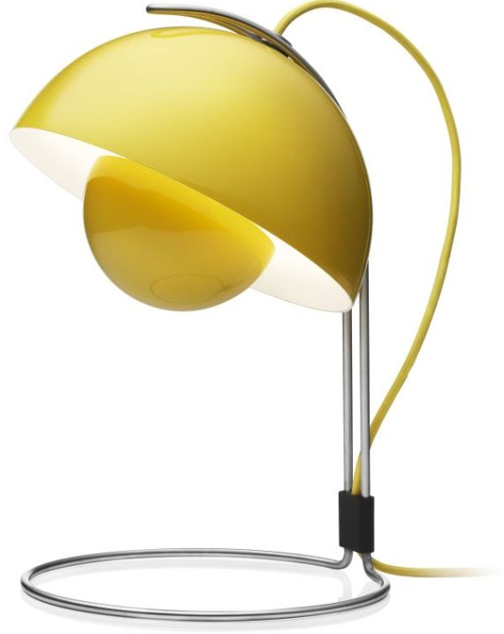 yellow flowerpot table lamp