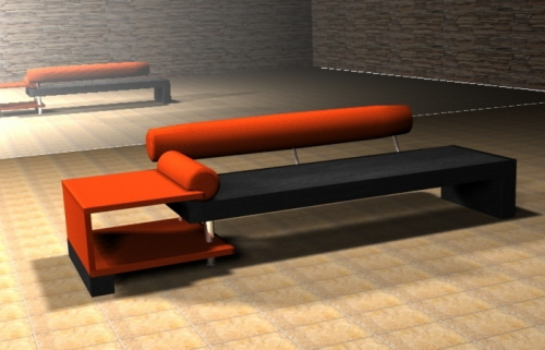 orange-black-sofa