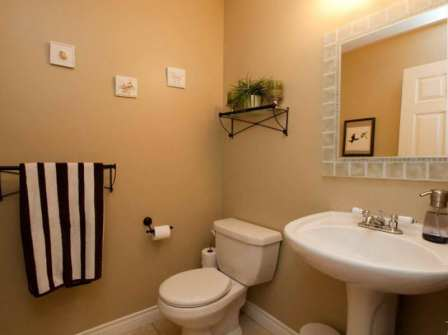 10 ideas to decorate powder rooms home interiors blog. Black Bedroom Furniture Sets. Home Design Ideas