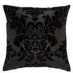 Black Flocked Cushion