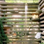 Cool Outdoor Shower Idea for Hot Summer Days