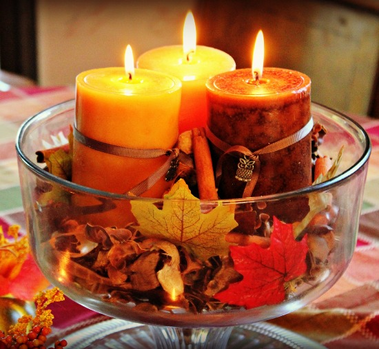 candles to keep the warmth in your home