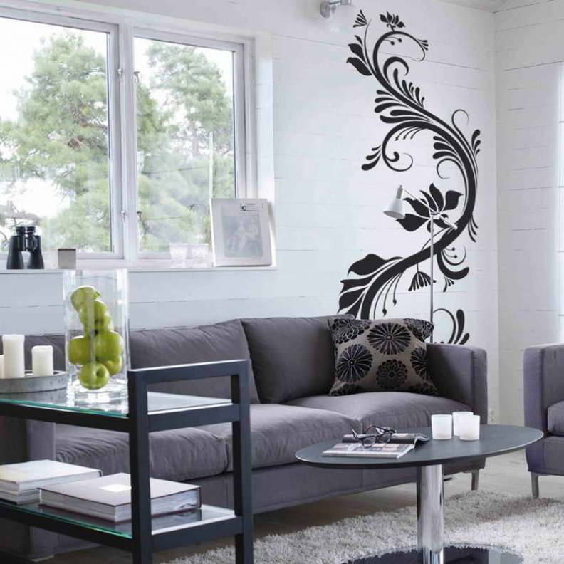 33 wall painting designs to make your living room - Designer wall paints for living room ...