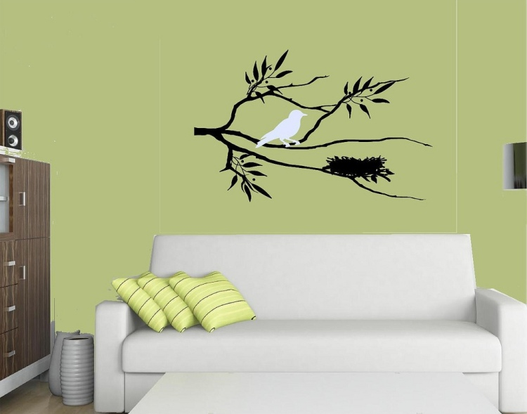 33 Wall Painting Designs To Make Your Living Room Luxurious - Wall ...