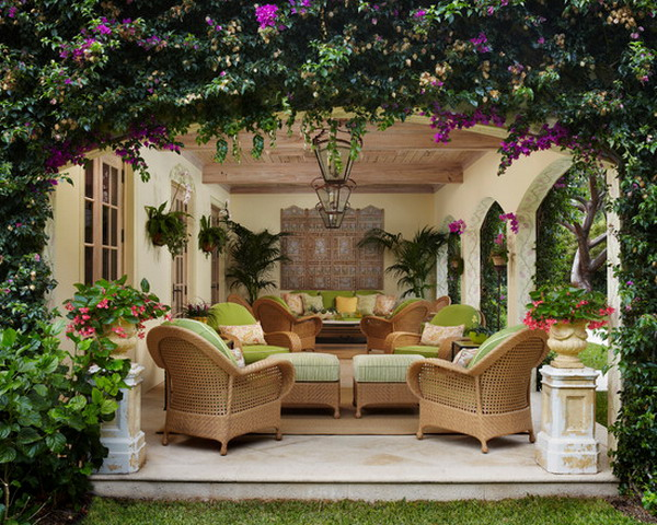 Outdoor Living Room Decorating Ideas Luxurious setting for