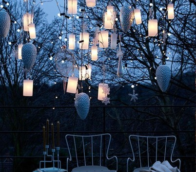 hanging lanterns - Hanging Outside Christmas Decorations