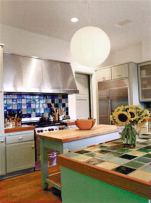 A homey kitchen