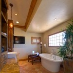 Make the layout ideas and the bathroom design simple