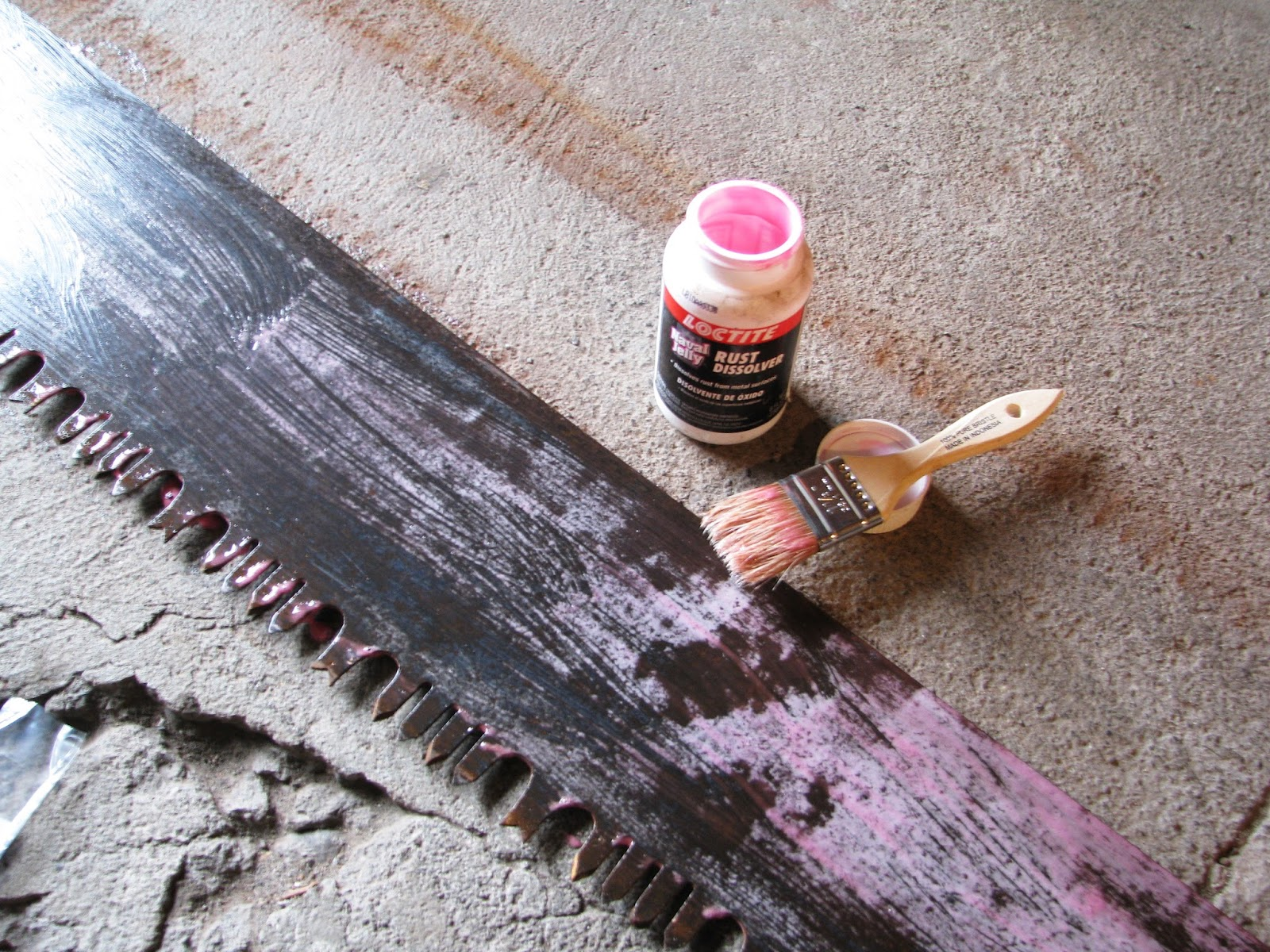 removing rust with navy jelly