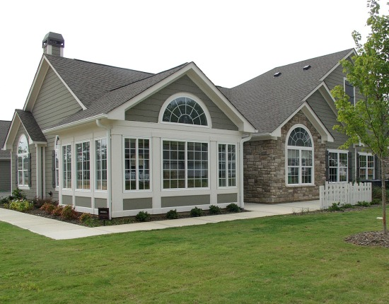 Interesting house exterior designs for split level for American window design