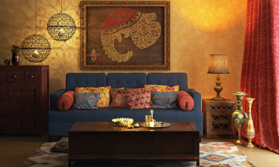 5 essentials elements of traditional indian interior for Indoor design ideas indian