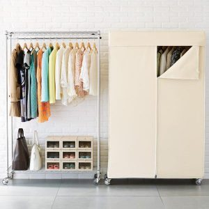 Move around racks and wardrobes