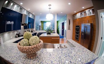 From Recycled Wine Bottles To Crushed Granite To Shredded Aluminum – The 9 Most Beautiful Countertops You Will Ever See