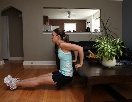 tricep dips at home