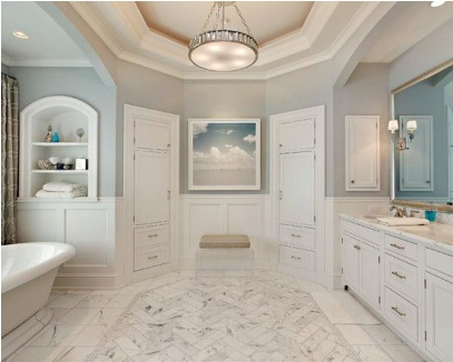 consider a color change for a cute and trendy bathroom