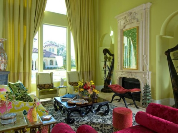 Use contrasting colours to brighten the room